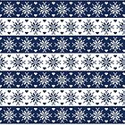 Navy Blue Snowflakes Christmas Pattern  by heartlocked