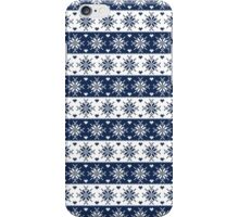 Navy Blue Snowflakes Christmas Pattern  iPhone Case/Skin