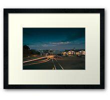 Night at Chatham Pier and Fish Market Framed Print
