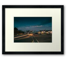 Night at Chatham Pier and Fish Market Framed Print