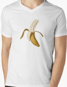 Dirty Censored Peeled Banana Mens V-Neck T-Shirt
