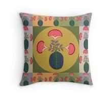 flower pot center and side 3 Throw Pillow