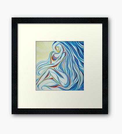 Hidden Woman Framed Print