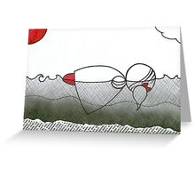 In the water Millicent wished she could stay. Greeting Card