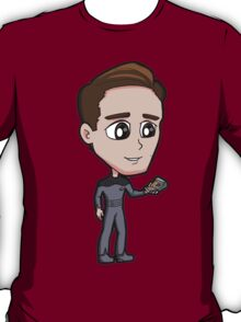 Star Trek TNG - Ensign Cadet Wesley Crusher with Tricorder T-Shirt