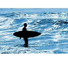 Surfer Silhouette Photographic Print