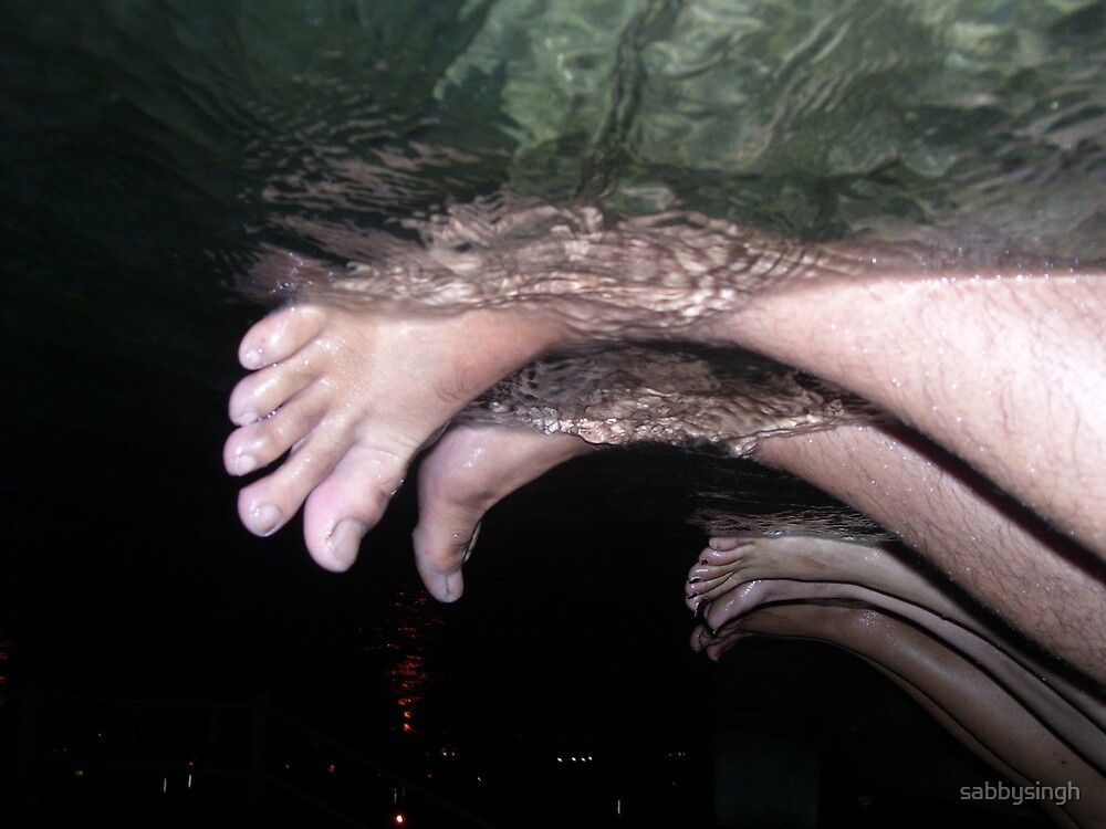 Foot Prints in Water by sabbysingh