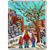 PAINTINGS OF CANADIAN WINTER SCENES URBAN CITY SCENES CAROLE SPANDAU iPad Case/Skin