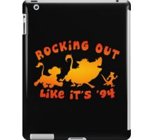 Rocking Out Like it's '94 (color) iPad Case/Skin