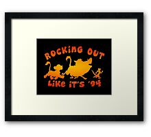 Rocking Out Like it's '94 (color) Framed Print