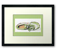 Green Sneaker Framed Print