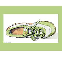Green Sneaker Photographic Print