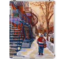 CANADIAN URBAN SCENES CANADIAN WINTER CITY ART PAINTINGS CAROLE SPANDAU iPad Case/Skin