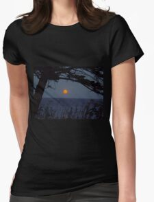 Red Moon Rising Womens Fitted T-Shirt