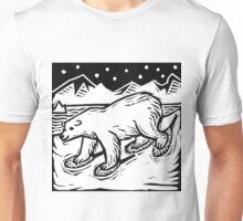Polar Bear with Snowshoes Unisex T-Shirt