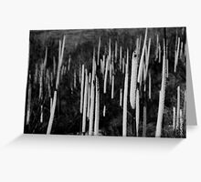 Grass trees Greeting Card
