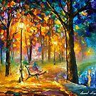 Singing Park — Buy Now Link - www.etsy.com/listing/210981663 by Leonid  Afremov