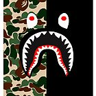 Bape Shark Pattern by willyson