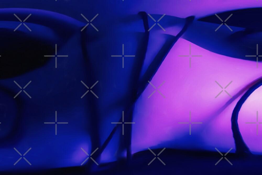 abstract blue bum by Tony Anastasi