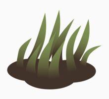 Glitch Firebog Land grass solid Kids Tee