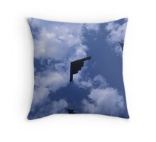 Stealth bomber with fighter escort Throw Pillow