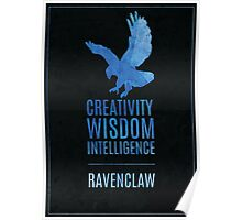 Harry Potter Inspired Ravenclaw House print Poster