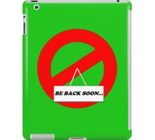 Be Back Ghost iPad Case/Skin