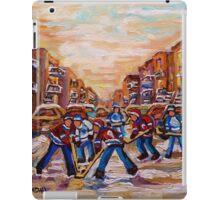 CANADIAN WINTER SCENES BY CANADIAN ARTIST CAROLE SPANDAU iPad Case/Skin