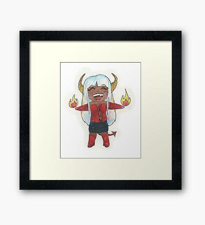 Chibi demonness Framed Print