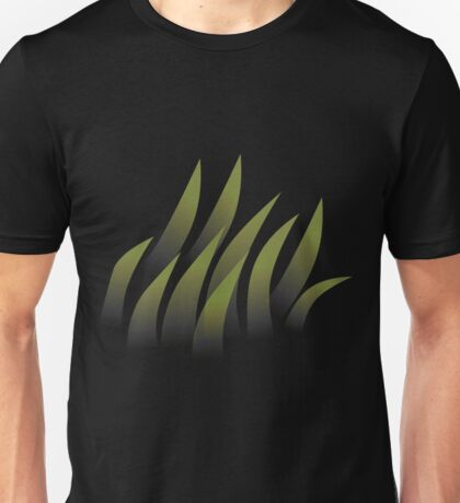 Glitch Firebog Land grass transparent Unisex T-Shirt