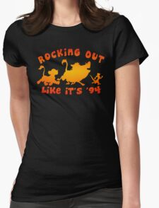 Rocking Out Like it's '94 (color) Womens Fitted T-Shirt