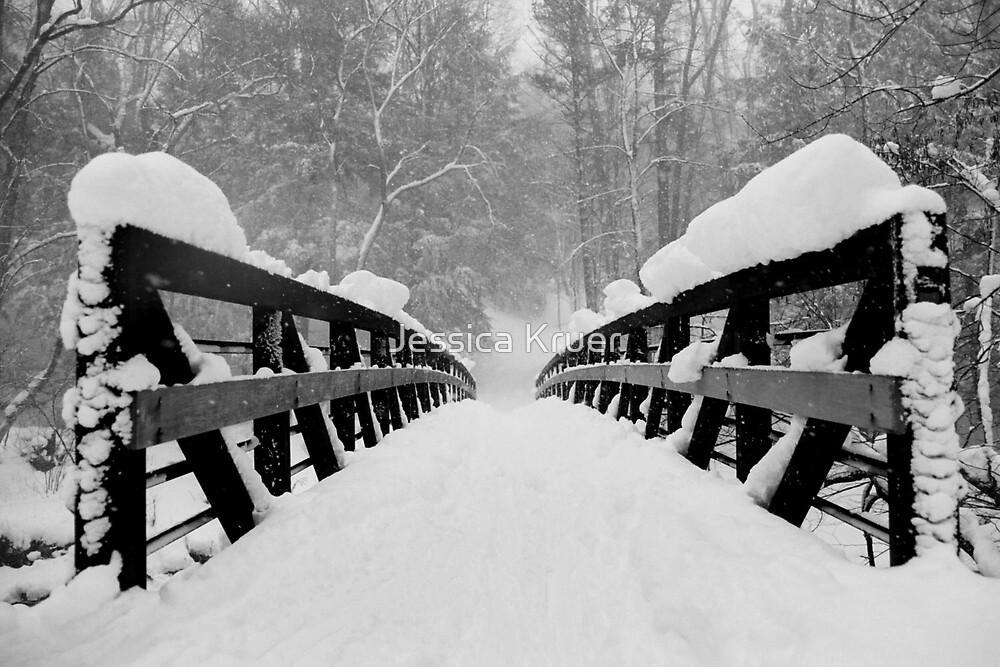 Snowy Bridge by Jessica Kruer