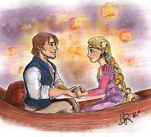 I've got a dream - Tangled FanArt by BethRhodesArt