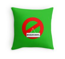 Be Back Ghost Throw Pillow