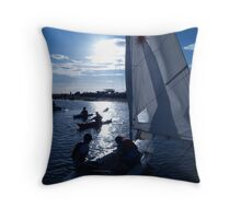 West Kirby Boating Lake Throw Pillow
