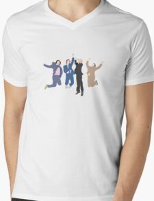 The Channel 4 news team Mens V-Neck T-Shirt