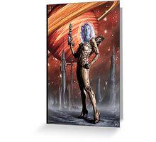 Retro Robot Painting 002 Greeting Card