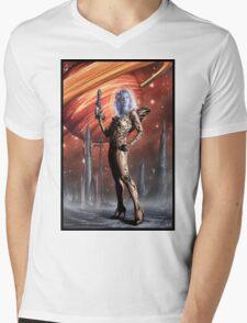 Retro Robot Painting 002 Mens V-Neck T-Shirt