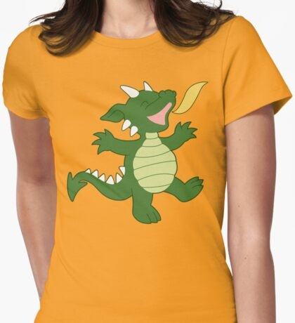 Baby Dragon Womens Fitted T-Shirt