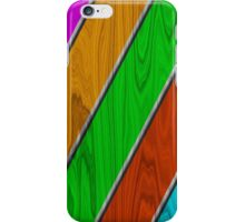 Nice Wood In Colors iPhone Case/Skin