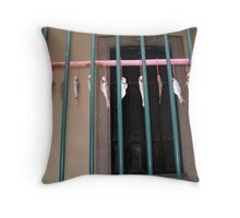 Drying Fish, Macau Throw Pillow