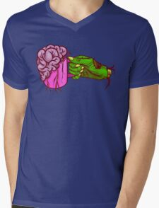 Zombie Coffee Mens V-Neck T-Shirt