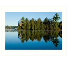 Lake with Trees Art Print