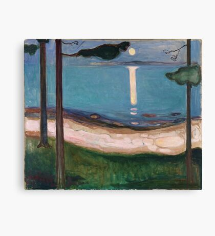 Edvard Munch - Moonlight Canvas Print