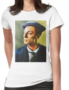 Buster Keaton, Vintage Hollywood Actor Womens Fitted T-Shirt