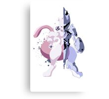 Pokemon - Mewtwo Half Armor Canvas Print