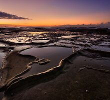 Bar Beach Rock Platform 4 by Mark Snelson