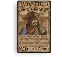 WANTED - Jack Sparrow Canvas Print