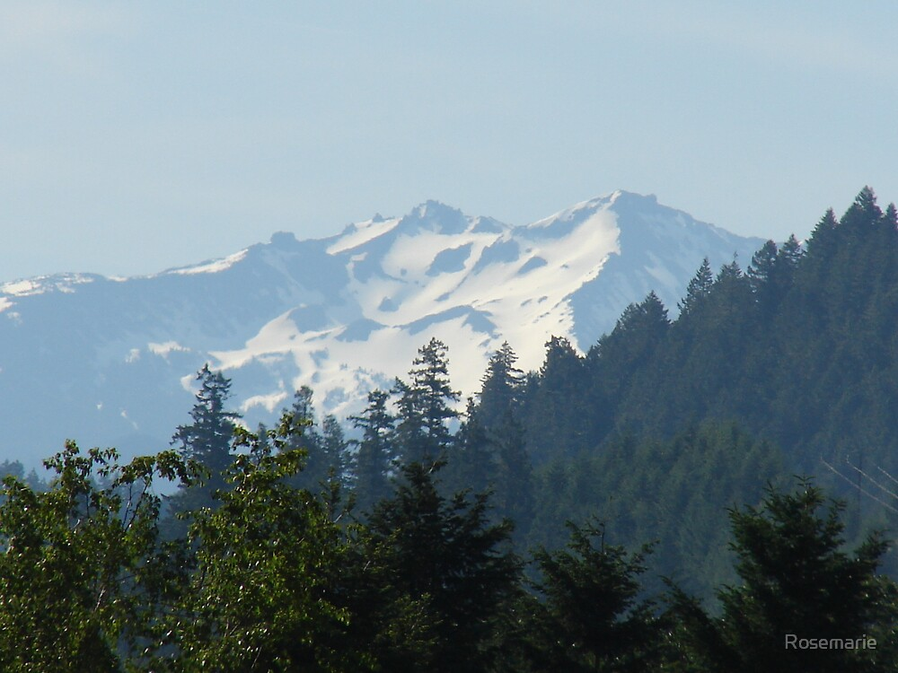 Diamond Peak in the early springtime by Rosemarie