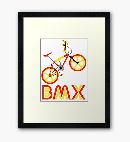 BMX (Red & Yellow) Framed Print